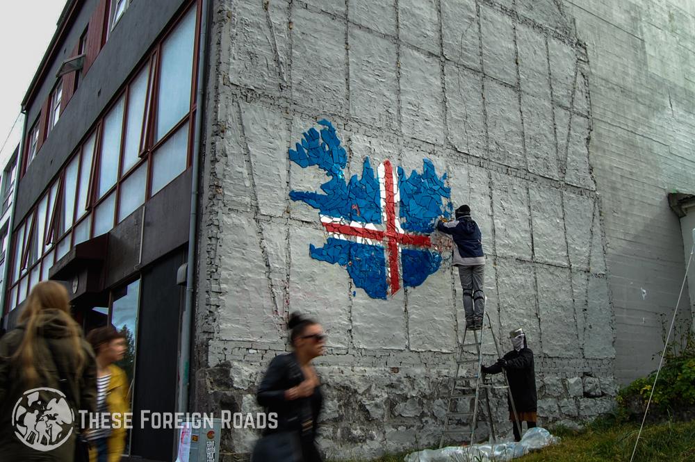Iceland Flag Art