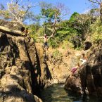 Cliff Jumping in El Tunco