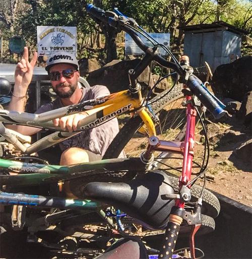 Biking on Ometepe