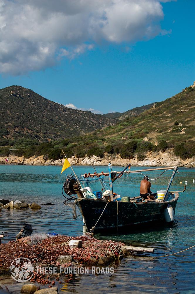 Fisherman and Boat