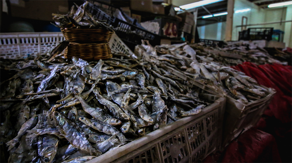 Dried fish in a San Cristobal market.