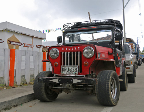 When backpacking Colombia, Jeeps are often your transport.